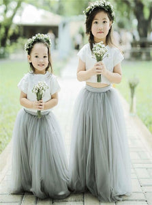 Two Piece A Line Flower Girl Dresses LBQF0024