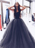 Sweetheart Beadings Tulle Long Ball Gown Prom Dresses LBQ1891