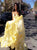 A Line Sweetheart Chiffon Asymmetrical Yellow Prom Dresses