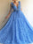 A Line Sleeveless Floor Length Prom Dresses