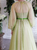 Sweep Train Green Evening Dresses