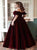 Velvet Off The Shoulder A Line Prom Dresses LBQ1411
