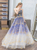 A Line Strapless Tulle Appliques Prom Dresses