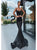 Black Spaghetti Strap Mermaid Long Prom Dresses