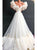 A Line White Organza Short Sleeves Prom Dresses with Sweep Train