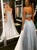 A Line Tulle Prom Dresses with Sequins