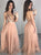 Champagne Floor Length Prom Dresses