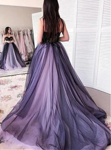Ball Gown Sweetheart Lace Up Appliques Chiffon Prom Dresses