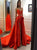 Sleeveless Red Satin Prom Dresses