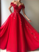 Off the Shoulder Floor Length Prom Dresses