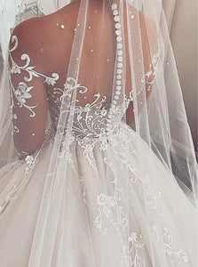 Lace Wedding Dress With Chapel Train