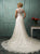 Scoop Sweep Train Appliques Wedding Dresses