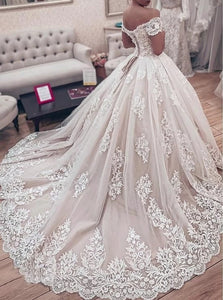 Sleeveless Zipper Up Wedding Dresses With Sweep Train