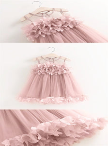 Knee Length Flowers Dresses with Pleats