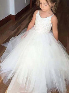 Floor Length White Flower Girl Dresses