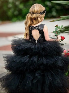 Open Back Floor Length Flower Girls Dresses