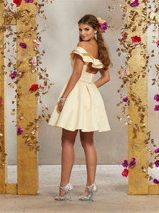 Above Knee Criss Cross Beadings Homecoming Dresses