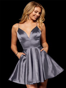 Above Knee Grey Evening Dresses