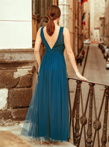 Floor Length Blue Evening Dresses