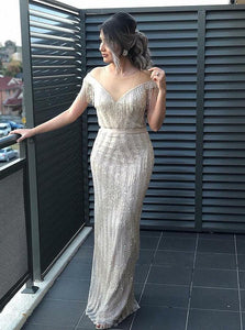Floor Length White Evening Dress