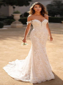 Off Shoulder Mermaid Lace Wedding Dresses