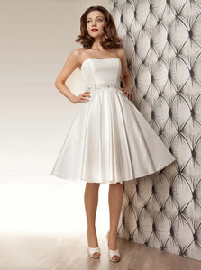 A Line Wedding Dresses with Beadings