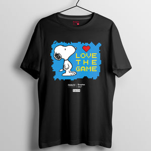 Snoopy Retro Game 系列 (黑白兩色)T-shirt - Snoopy Love The Game
