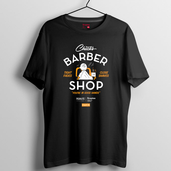 Snoopy 理髮師造型系列T-shirt - Charlie Brown Barber Shop