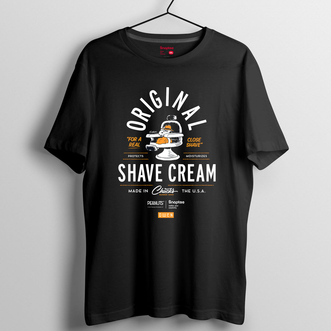 Snoopy 理髮師造型系列T-shirt - Spike Shave Cream