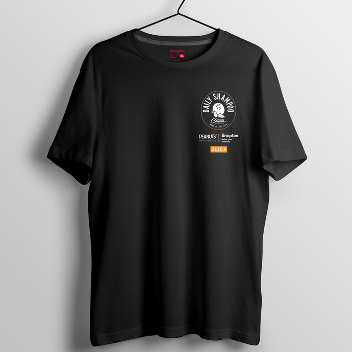 Snoopy 理髮師造型系列T-shirt - Charlie Brown Daily Shampoo 小圖案
