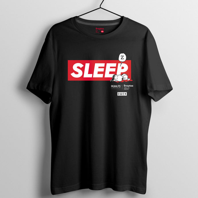 Snoopy Rebel with Paws 系列 T-shirt - SLEEP大圖案(黑白兩色)