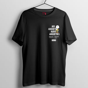 Snoopy Rebel with Paws 系列 T-shirt - My Anxieties Have Anxieties(黑白兩色)