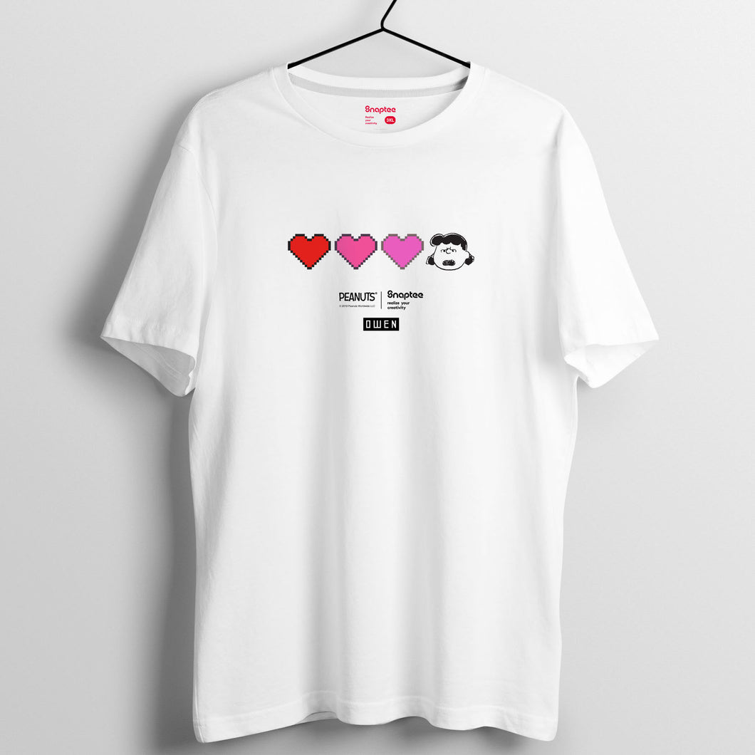 Snoopy Retro Game 系列 (黑白兩色)T-shirt - 復古遊戲LUCY