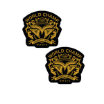 Sticker Pack - Black World Champ (Set of 2)