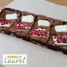 Load image into Gallery viewer, Raspberry & White Chocolate Brownie