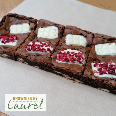 Raspberry & White Chocolate Brownie