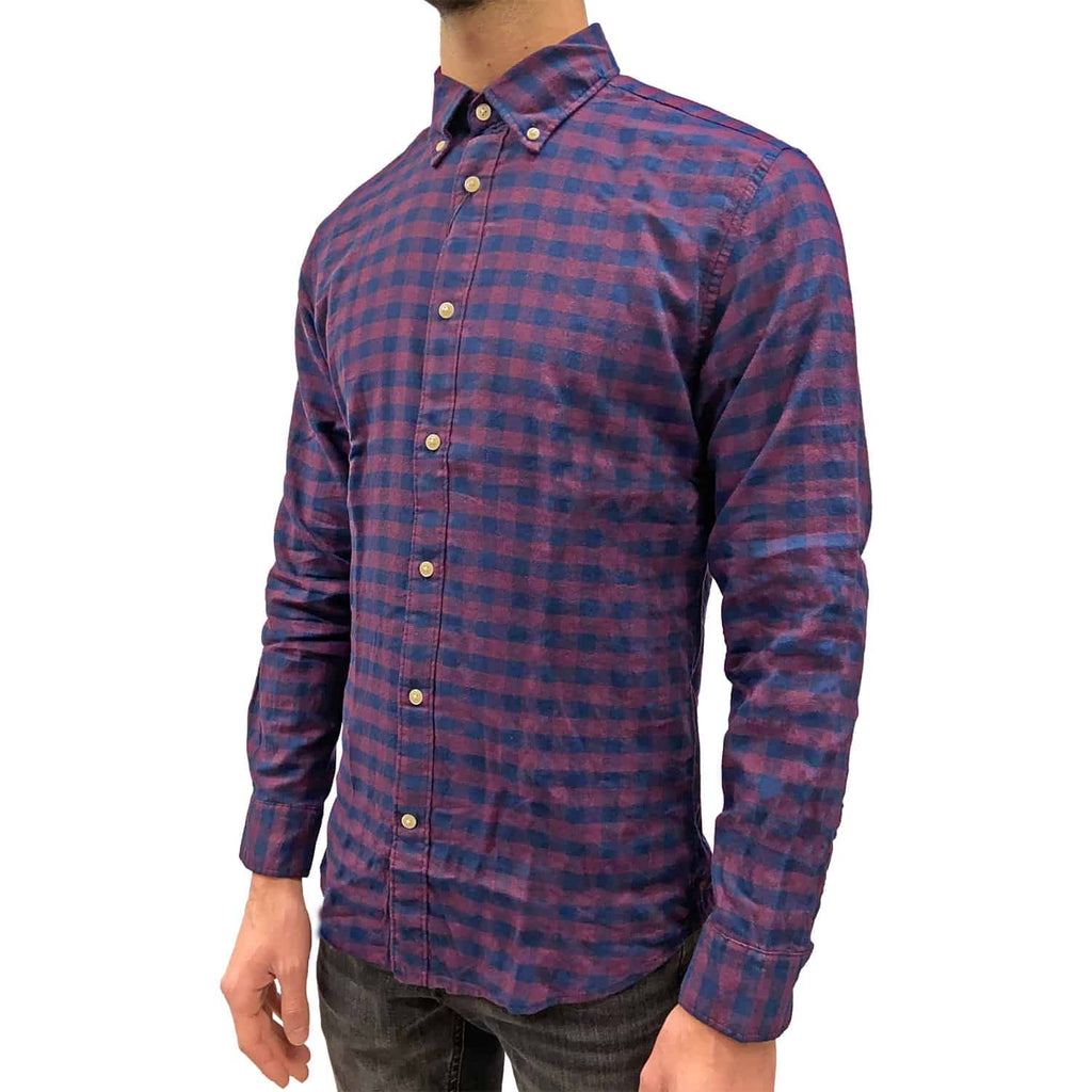 Camicia Flanella Quadri Uomo SELECTED