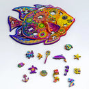 Zentangle Wooden Jigsaw Puzzle - Fish