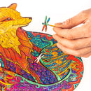 Zentangle Wooden Jigsaw Puzzle - Fox