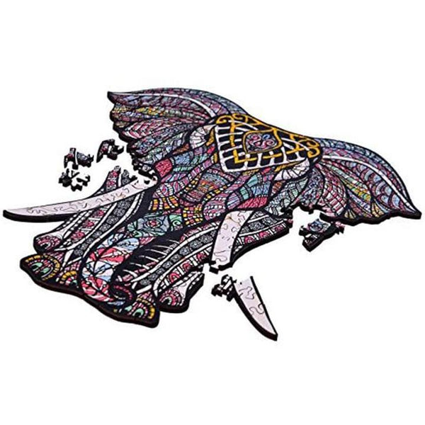 Zentangle Wooden Jigsaw Puzzle - elephant