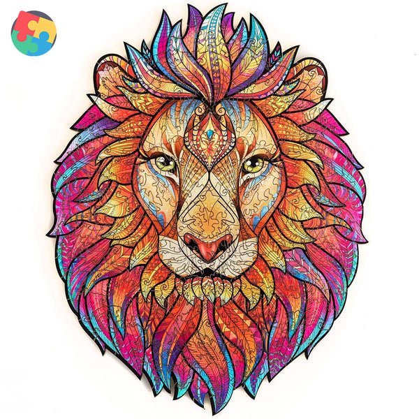 Zentangle Wooden Jigsaw Puzzle - Lion