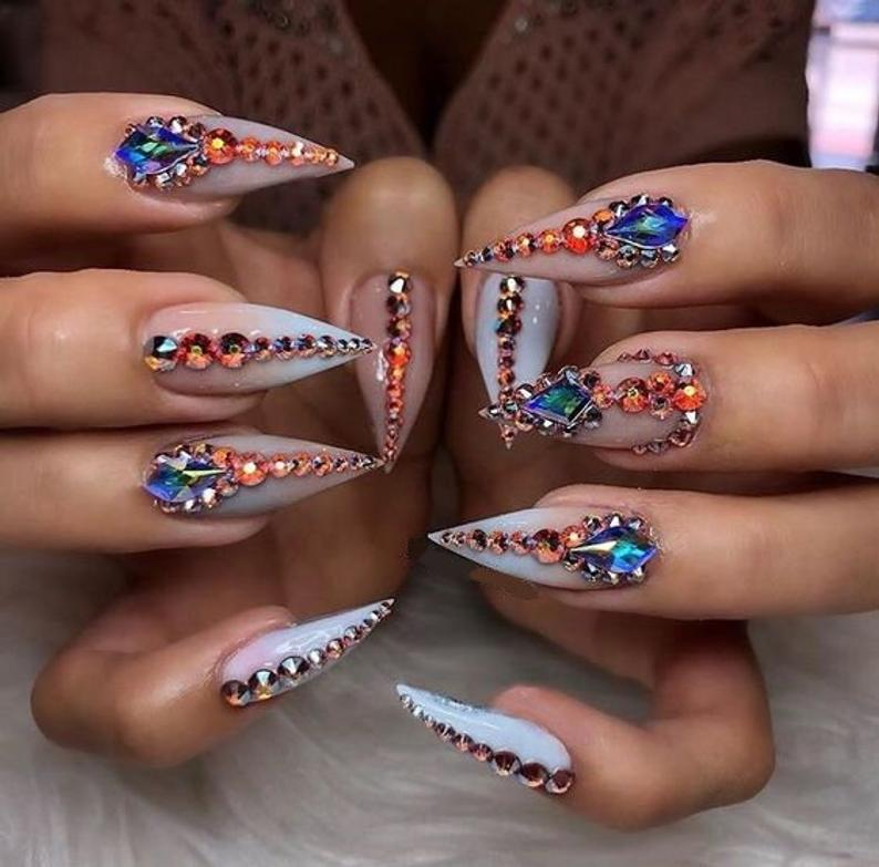 Designer Inspired,Press On Nails, Fake Nails, Glue On Nails, Designer Nails Art