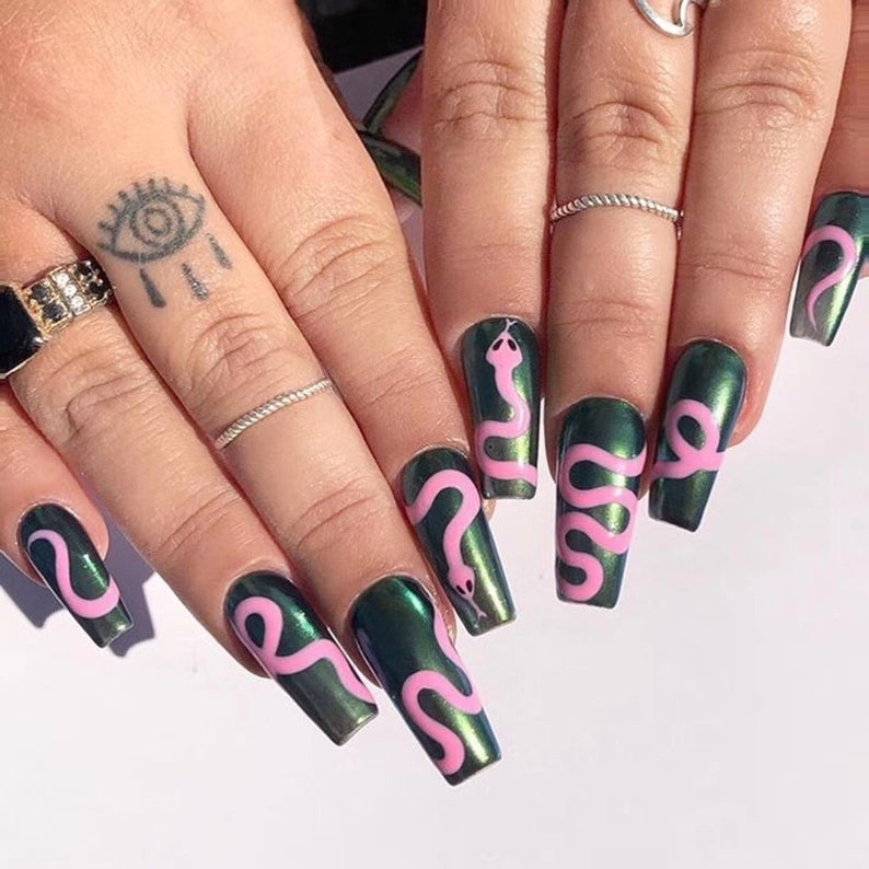 Designer Inspired, Designer Nails, Nail Art, Press On Nails, Fake Nails, False Nails, Glue On Nails