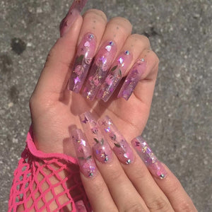 Designer Inspired,Designer Nail Art, Press On Nails, False Nails, Glue On Nails,