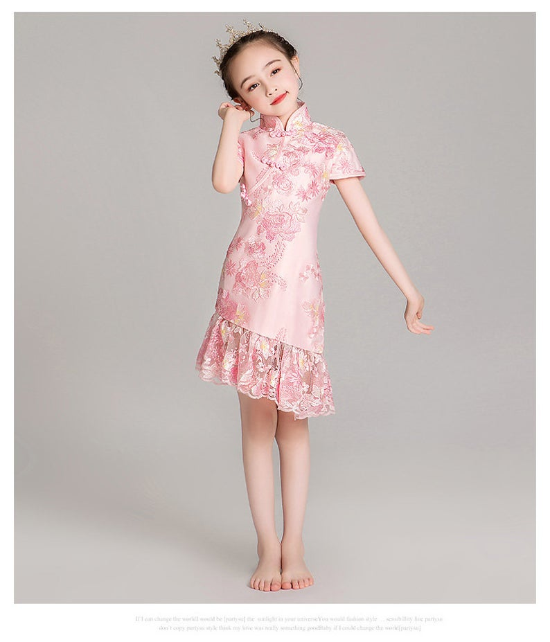 Chinese Style,Cheongsam,Gift Birthday Dress, Flower Girl Dress