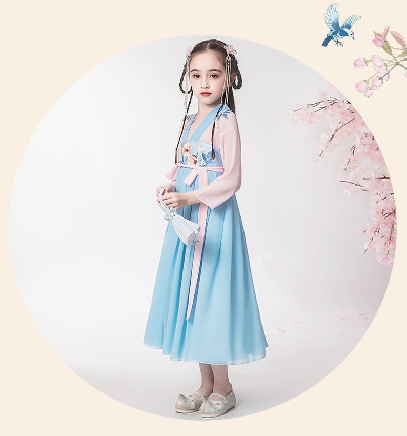 Chinese Style,Costume,Gift Birthday Dress, Flower Girl Dress, Toddler Dress