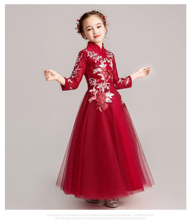 Chinese Style,Gift Birthday Dress, Flower Girl Dress