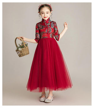 Chinese Style,Flower Girl Dress, Toddler Dress, Baby Christmas Dress