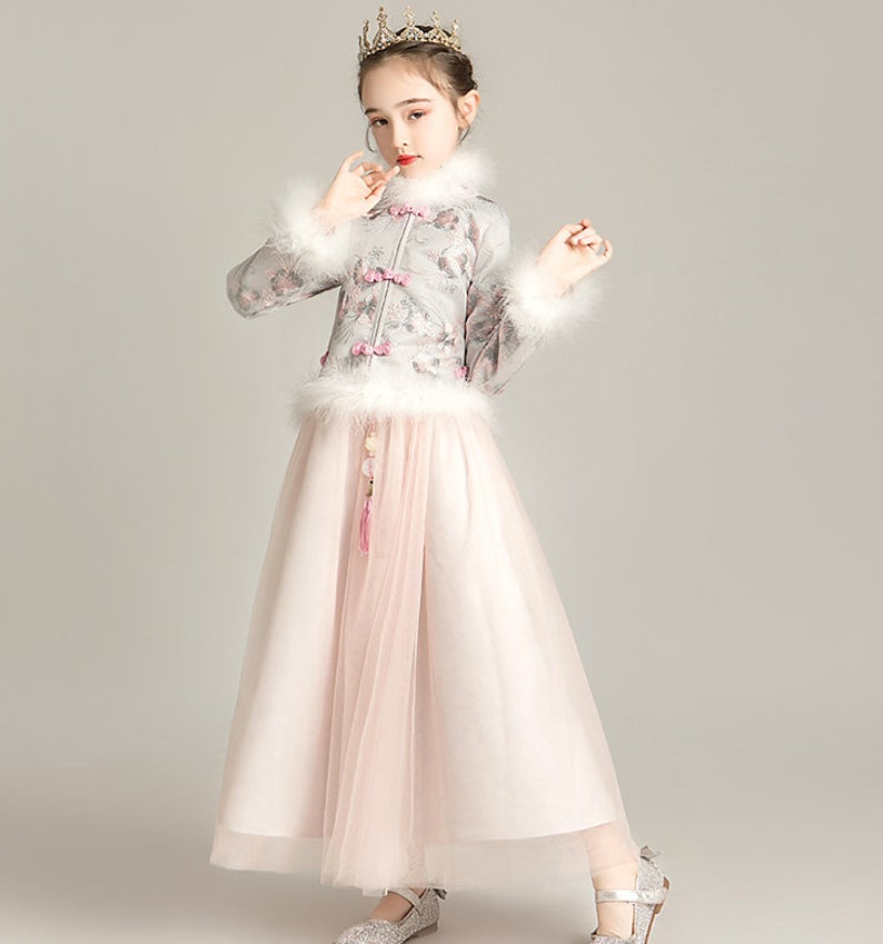 Chinese Style,Cheongsam,Flower Girl Dress, Toddler Dress, Baby Christmas Dress,