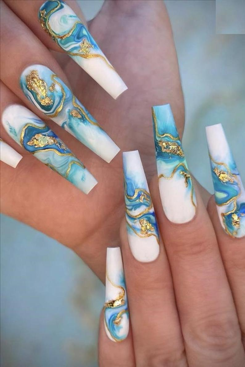 Designer Inspired,  Press On Nails, False Nails, Glue On Nails, Designer Nails Art